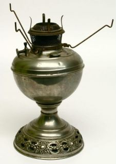 Antique Bradley Hubbard The B H Table Oil Lamp