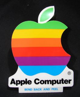 Vintage 1980s 4 Apple Computer Sticker