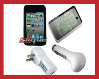 4pcs Accessories Bundle Combo Kit for Apple Ipod Touch 4th Gen 4G 16GB
