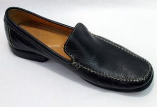 Arnold Palmer Mens 12 Black Leather Loafers ~ Augusta Collection Made