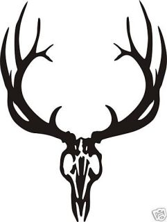 European Elk Skull Decal Sticker Bow Arrow Blind Hunt Antler