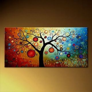 Modern Abstract Art Oil Painting on Canvas Tree No Frame