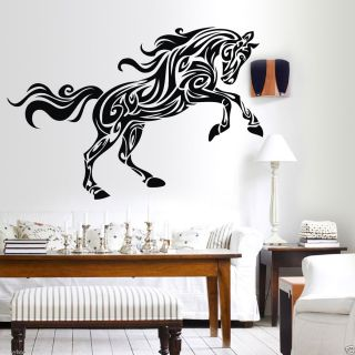 Big Horse Wall Sticker Art Paper Room Decor Decal Mural Vinyl