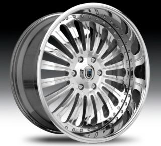 22 asanti AF125 Chrome Wheels Rims 2 Piece