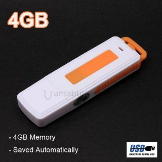 USB 4GB 4G Flash Memory Drive Digital Audio Voice Recorder Dictaphone
