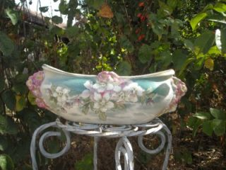 Stunning Antique French Luneville Art Nouveau Ceramic Jardinere 1900