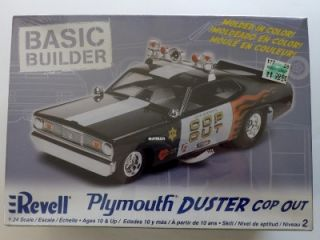 Revell Plymouth Duster Cop Out Model Car Kit New in Box