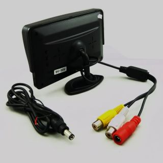 LCD Car Monitor For Rear View reverse Camera Video Monitor 2CH Input