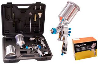 DEVILBISS HVLP Auto Paint & Touch Up SPRAY GUN SYSTEM w/ 3