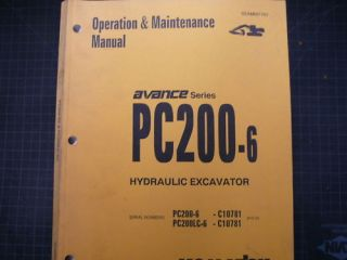 Komatsu PC200 Operation Operator Shop Manual Guide Book
