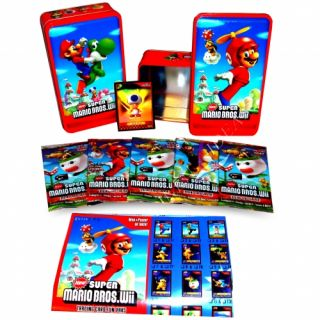 New Super Mario Bros Wii Assorted Tin Case Collectable Gift