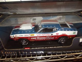 Sunstar 1 18 1971 Sam Auxier jr Ford Mustang drag car RW B Nib