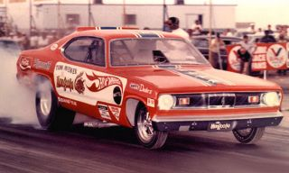 Mongoose McEwen 1970 Hot Wheels Plymouth Duster NITRO Funny Car PHOTO