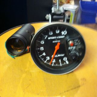 Auto Meter Sport Comp Monster Tachometer w Shift Light