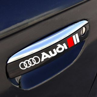 AUDI A3 A4 A6 A8 RS3 RS4 Q3 Q5 Q7 Door Handle Decal sticker emblem