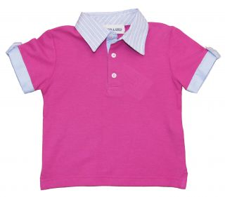 Girl Purple Tee Polo Shirt Boys Girls by Baby Graziella 2T
