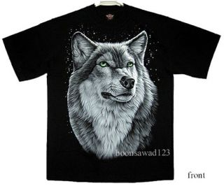 White Wolf Beast Rock Punk T Shirt B5 New Size L