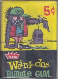 Fleer Weird Ohs Unopened Trading Card Pack