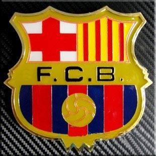 Car Front Grille Emblem Badge Barcelona Football Club