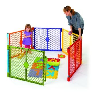 Color Superyard Baby Pet Gate Portable Play Yard 6 Panel 8769