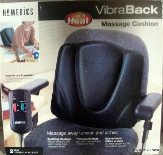 Homedics Vibra Back Massage Cushion with Heat