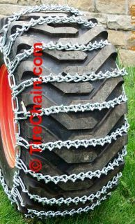 Garden Tractor Tire Chains 23 x 10 50x12 Two Link V Bar Tirechain Com
