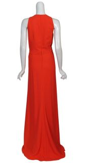 Badgley Mischka Elegant Draped Long Gown Dress 10 New