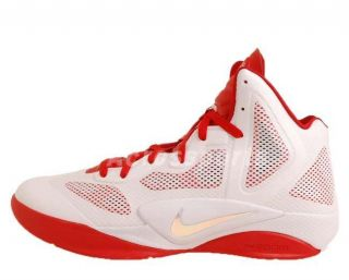 Nike Zoom Hyperfuse 2011 x White Red Basketball Shoes