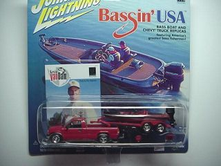 BASSIN USA KEVIN VAN DAM BASS BOAT CHEVY PICKUP JOHNNY LIGHTNING