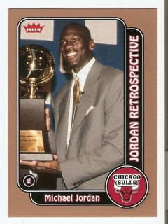 2008 09 Michael Jordan Fleer Basketball Trading Card MJ11