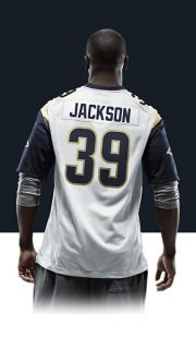 Steven Jackson Mens Football Away Game Jersey 479402_101_B_BODY