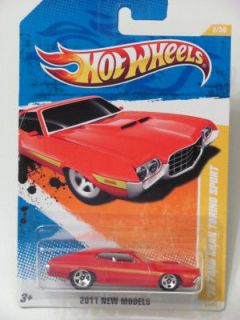 HOT WHEELS 2011 2/50 NEW MODELS 72 FORD GRAN TORINO SPORT RED