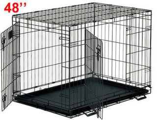 newly listed foldable folding wire dog cage pet crate 48