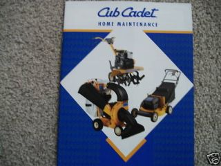 cub cadet home maintenance brochure mower tiller old time left