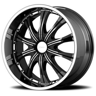 20 inch diamo 30 karat black wheels rims 6x5 5
