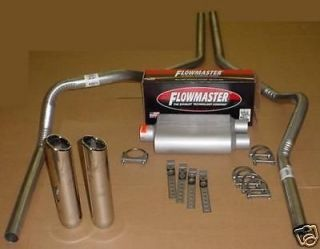 silverado 05 10 dual exhaust flowmaster mandrel w tips time