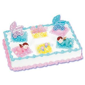 twins baby shower cake decorating kit topper decoration time left