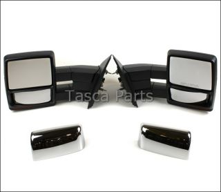 SIGNAL TRAILER TOW MIRRORS 2007 2012 FORD F 150 (Fits Ford F 150
