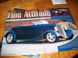 original 1933 ford roadster street rod article 351w time left