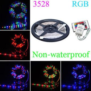 RGB Lights Non waterproof Flexible Strip 300 LED + 24 key Remote 12V