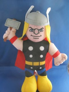 thor marvel super hero squad action figure plush doll 13