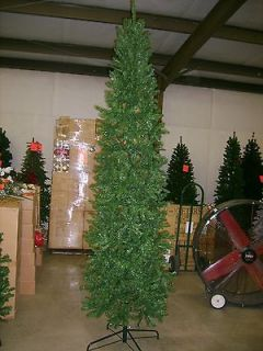 CLEARANCE 6.5 FOOT SLIM PENCIL PINE CHRISTMAS TREE 6 1/2 FT
