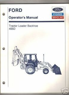 ford 455d tractor loader backhoe operator s manual time left