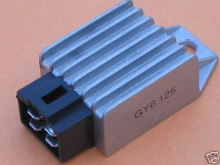 voltage regulator rectifier honda gy6 125 125cc 12v nos time