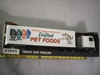 FIVE POINT PET FOODS SEMI, ERTL, CHEVY TITAN TRATOR TRAILER, TRUCK, 1