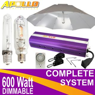 600w 600 watt HPS MH Grow Light Kit Dimmable Ballast System Apollo