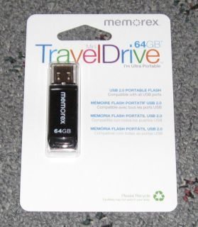 Memorex 64GB Mini Travel Drive for PC or Mac USB 2 0 New and Retail