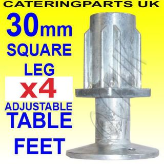 30mm Square Table Leg Adjustable Feet Foot Insert