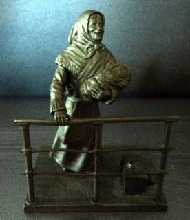 Franklin Mint Fine Pewter Small Figurine The Immigrant Ellis Island