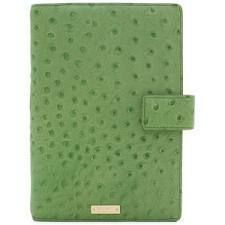 Kate Spade Agenda Planner Large Debra 8x5 Fresh Green Ostrich Leather